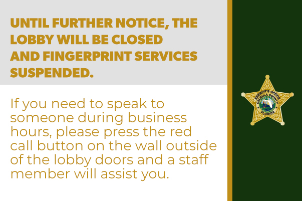 Lobby is currently closed