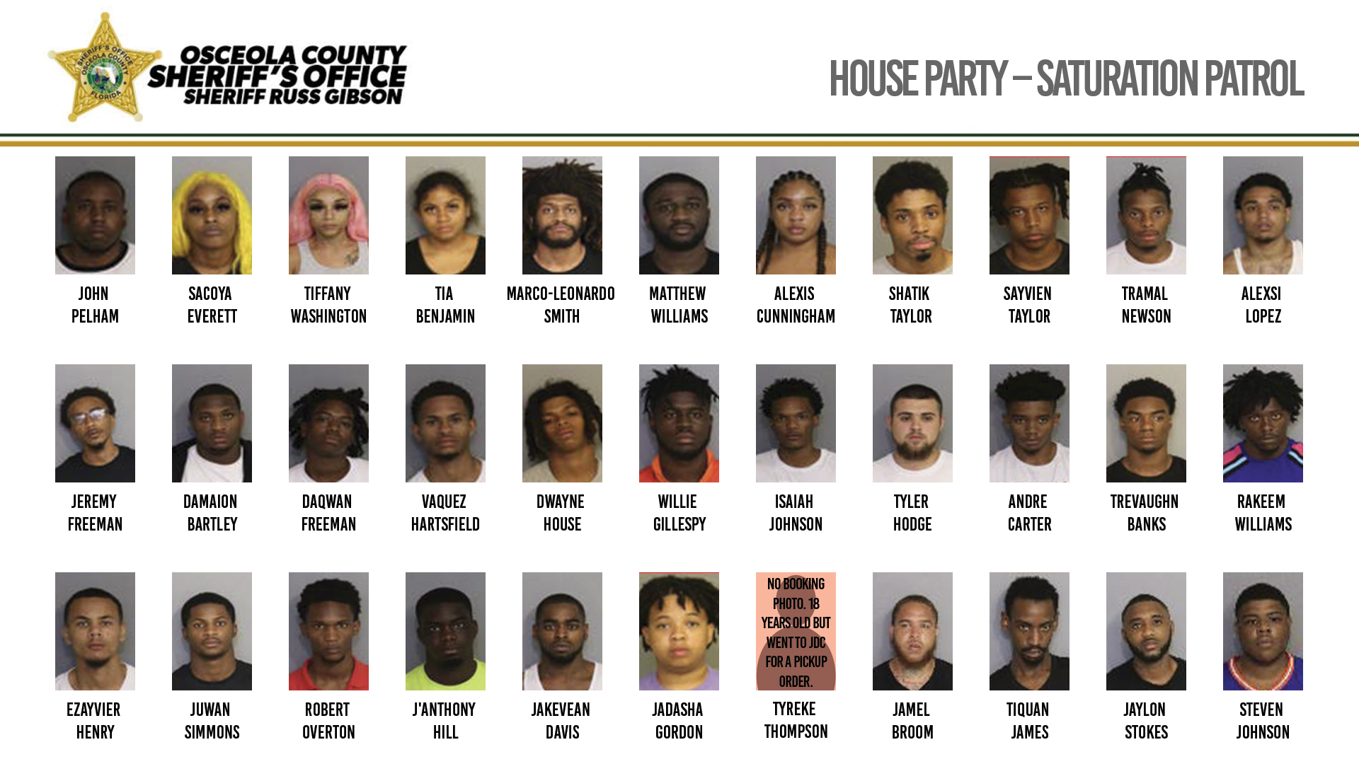 House Party Saturation Patrol