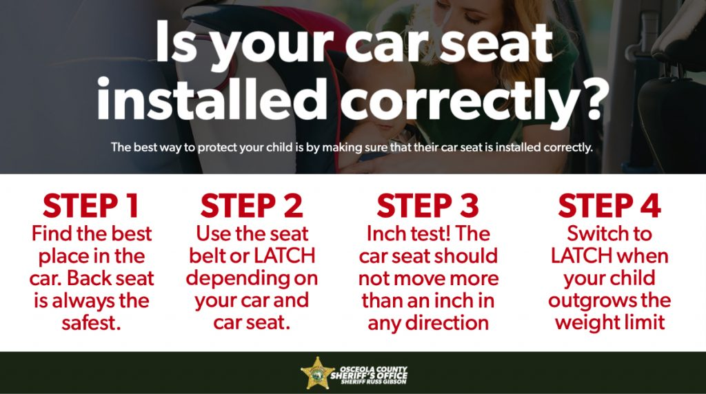 Steps for Car Seats Installations