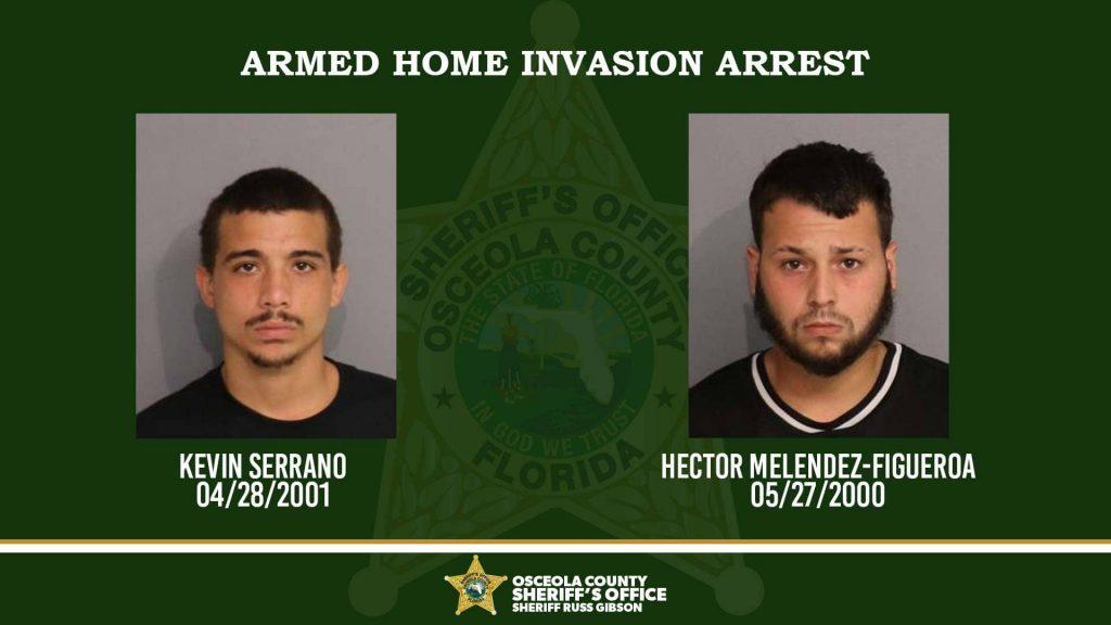 ARMED HOME INVASION ARREST