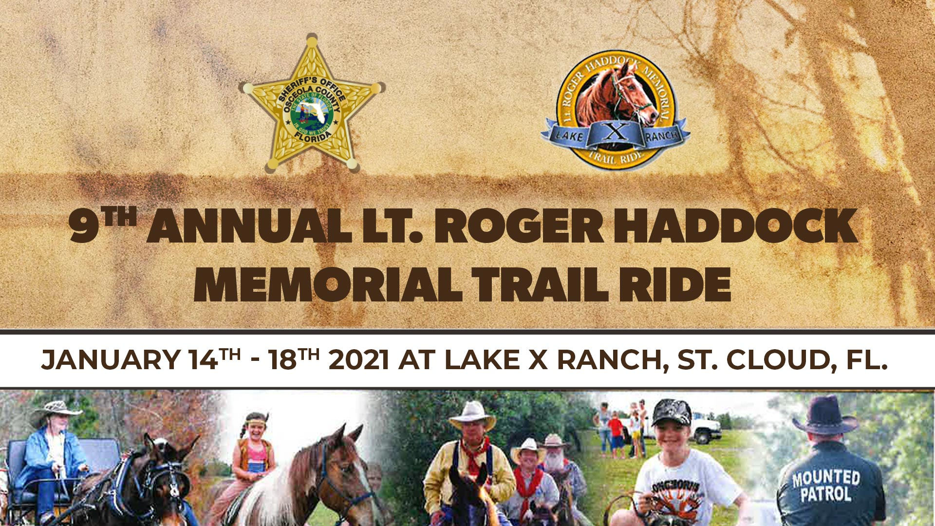 9th annual lt. roger haddock memorial trail ride Event Cover