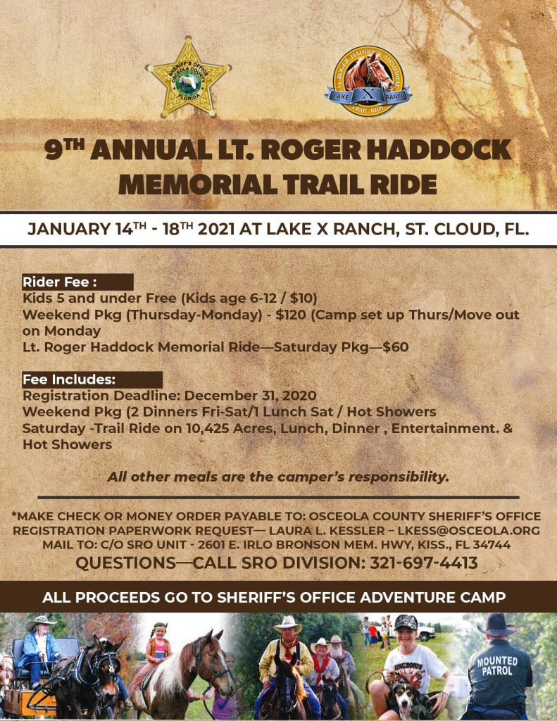 9th annual lt. roger haddock memorial trail ride