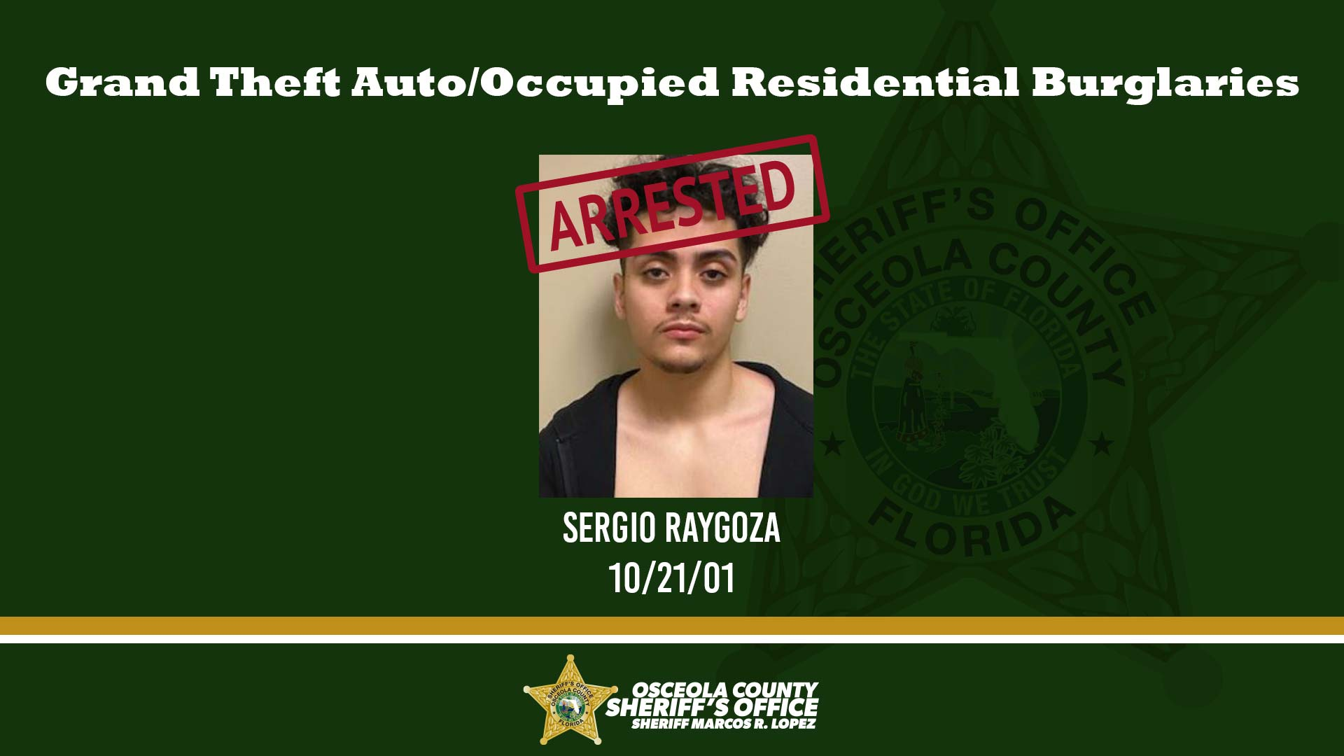 Grand Theft Auto/Occupied Residential Burglaries