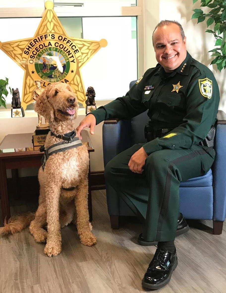 Sheriff Marcos Lopez and K9 Murphy - Sheriff Marcos R. Lopez