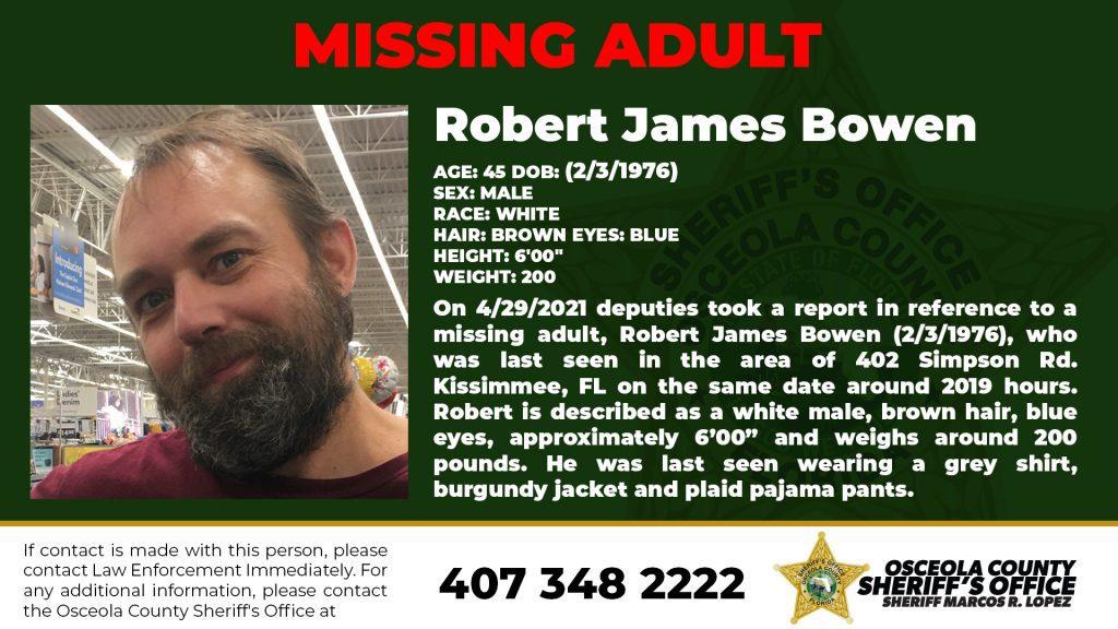 Missing Person James Bowen