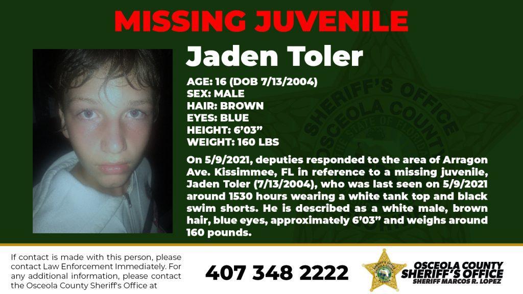 Jaden Toler - Missing Juvenile
