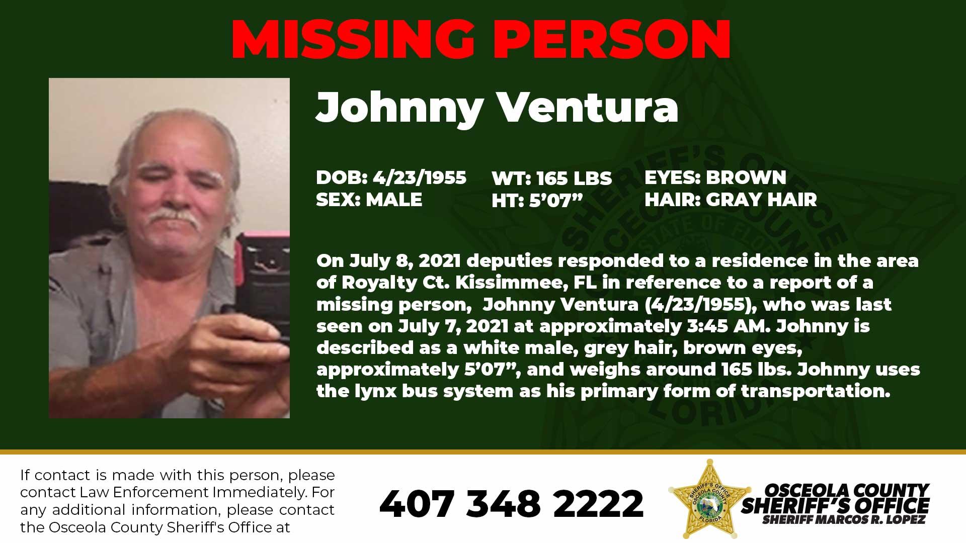 MISSING PERSON – Johnny Ventura –