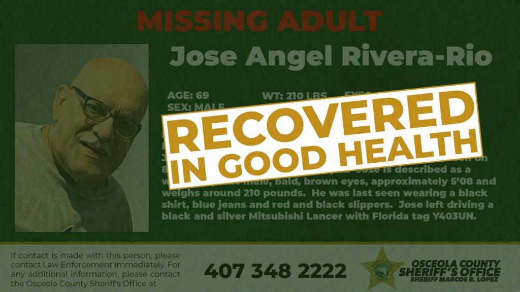 Jose Angel Rivera Rio Recovered