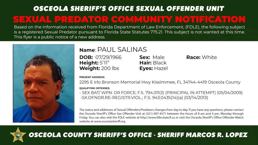 Paul Salinas - Sexual Predator C