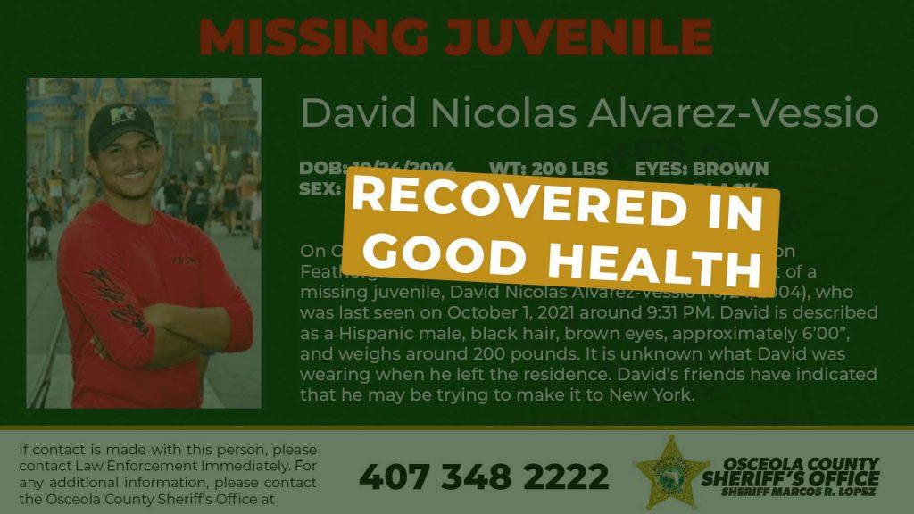 Update Missing Juvenile