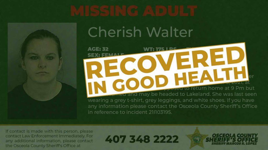 Cherish Walter Found