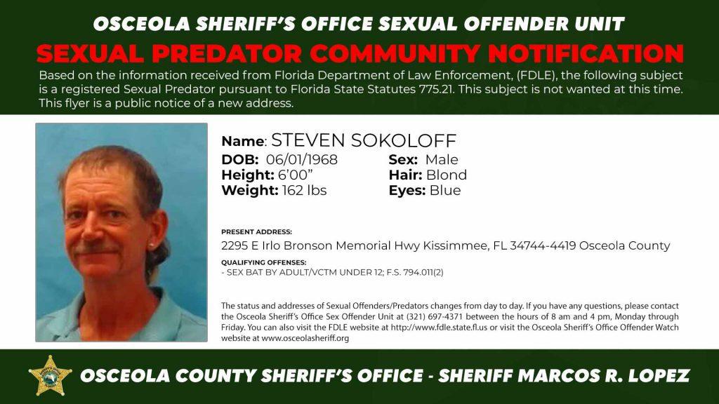 Steven Sokoloff - Sexual Predator