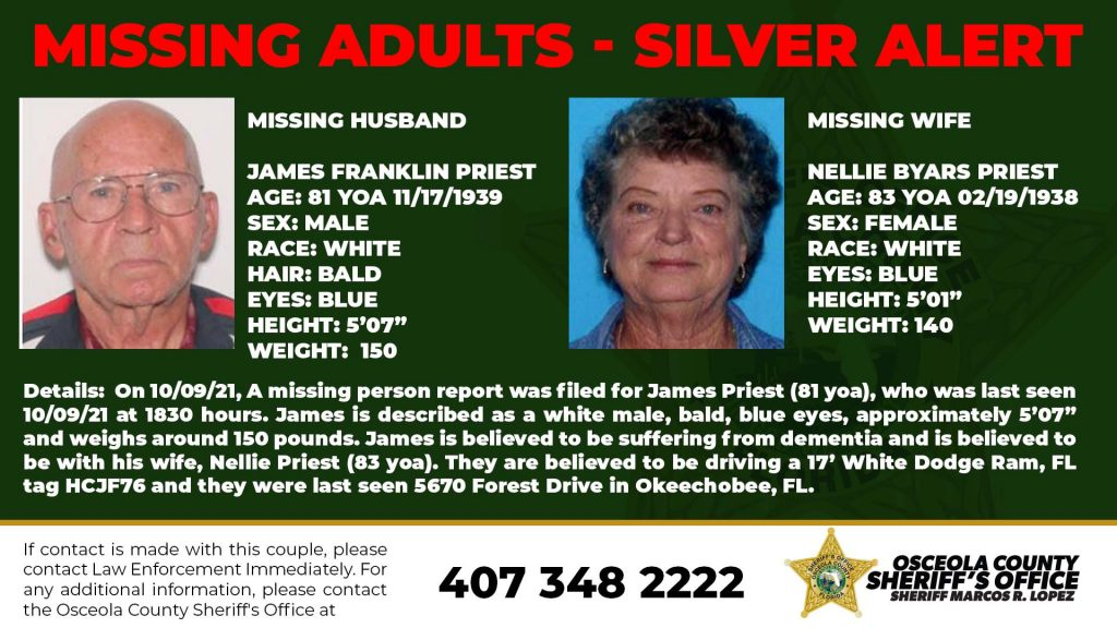 Missing Adults - Silver Alert